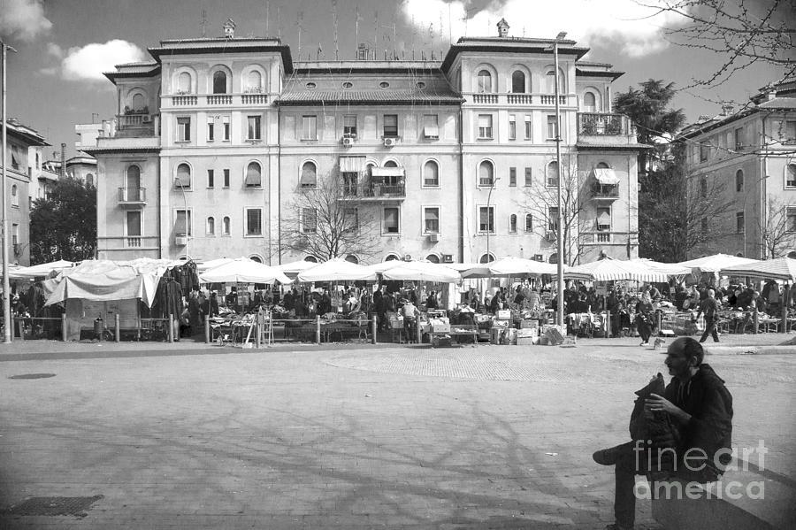 Rome Open Air Market Photograph