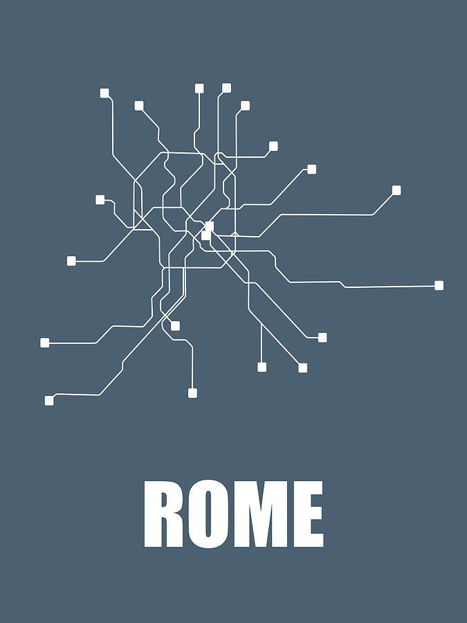 Subway Map Graphic Design.Rome Subway Map By Naxart Studio