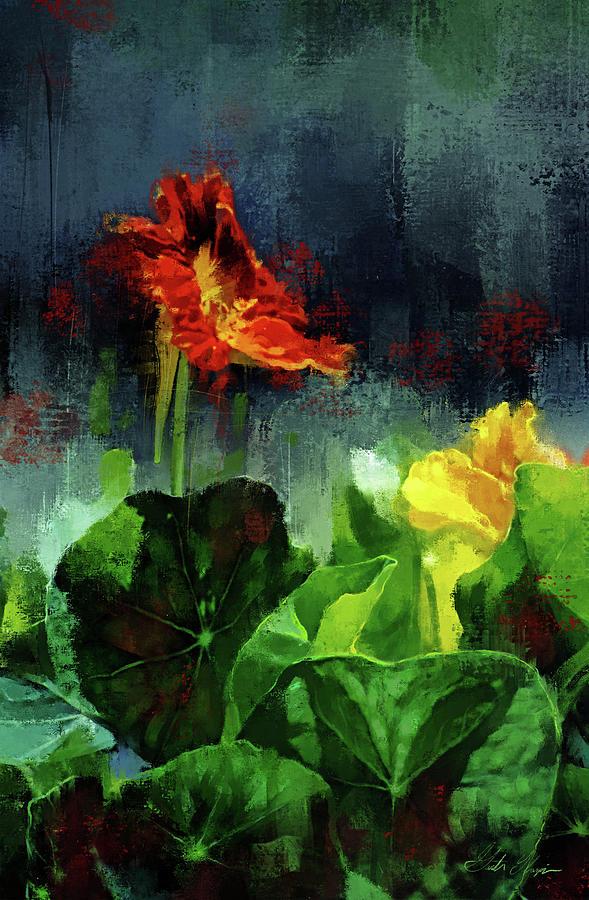 Nasturtium Digital Art - Romeo And Juliet by Garth Glazier