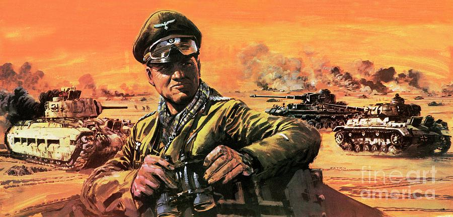 Wars Painting - Rommel In North Africa by Graham Coton