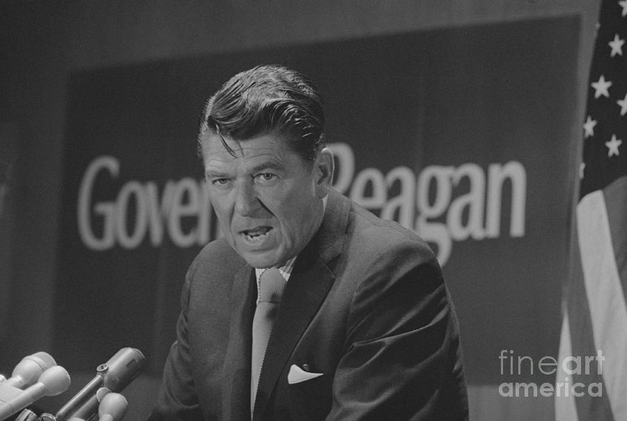 Ronald Reagan At News Conference Photograph by Bettmann
