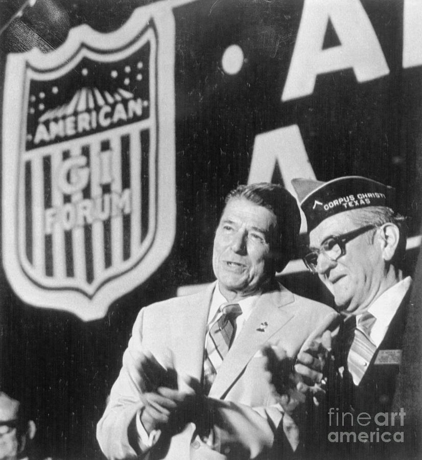 Ronald Reagan At Veteran Podium Photograph by Bettmann
