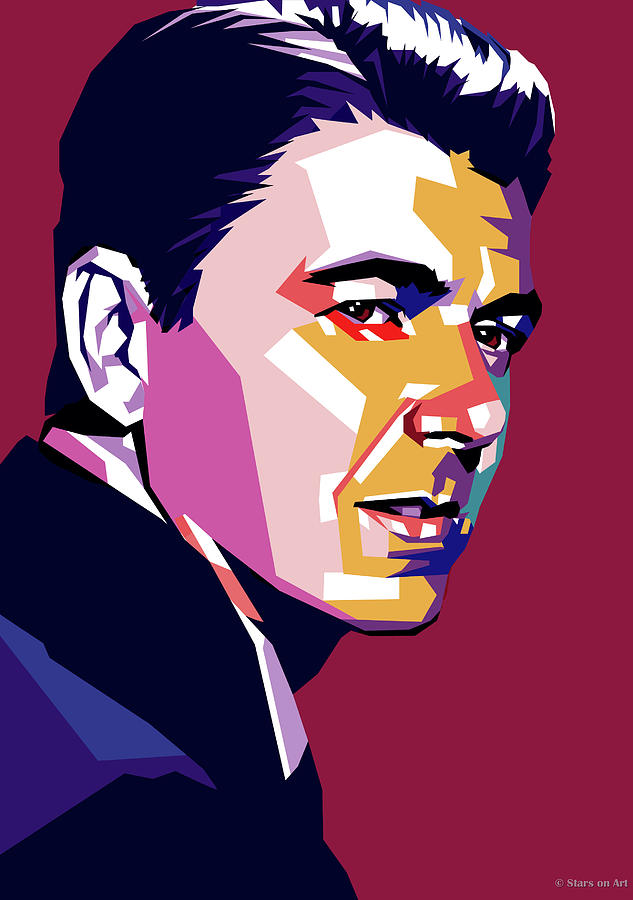 Ronald Digital Art - Ronald Reagan by Stars on Art