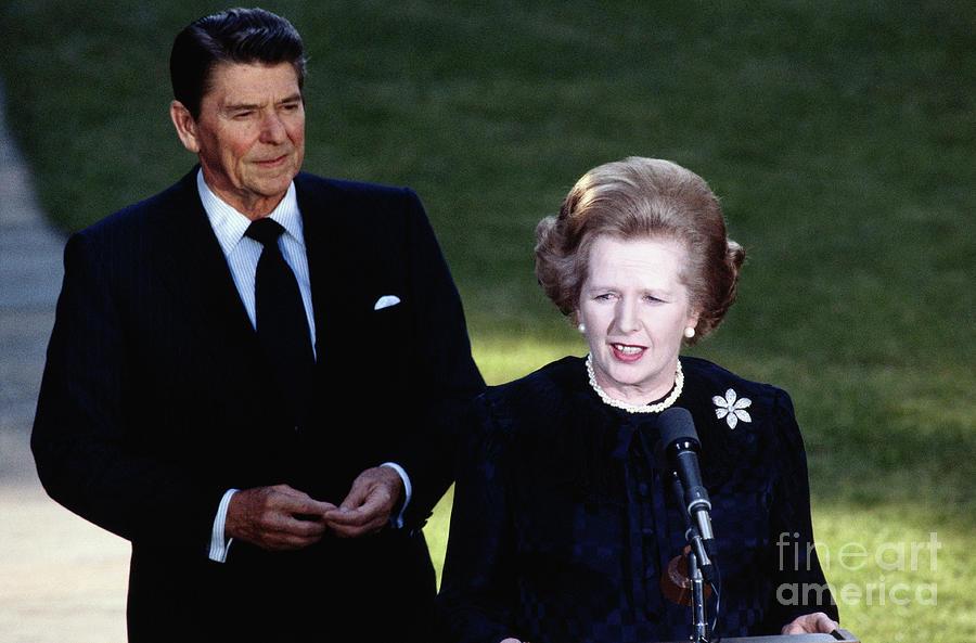 Ronald Reagan With Margaret Thatcher Photograph by Bettmann
