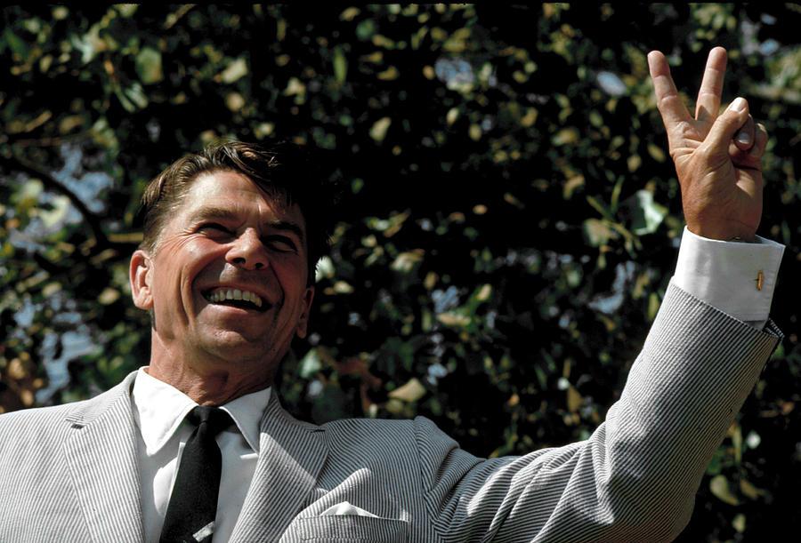 Ronald W. Reagan Photograph by Bill Ray