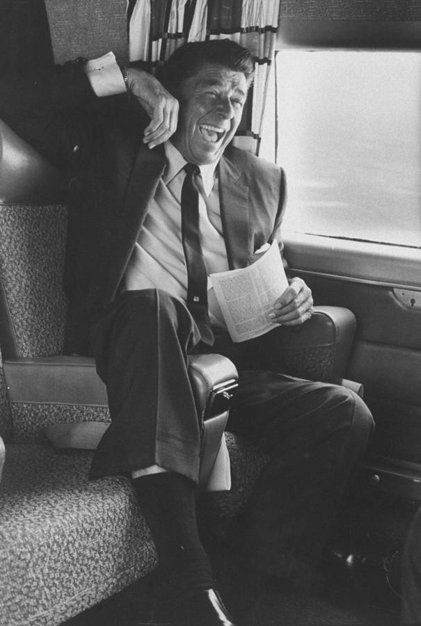 Ronald W. Reagan Photograph by John Loengard