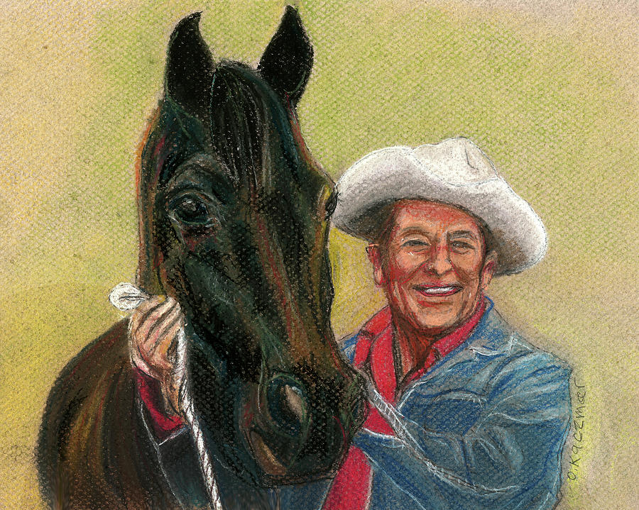 Ronnie and his Best Horse by Olga Kaczmar