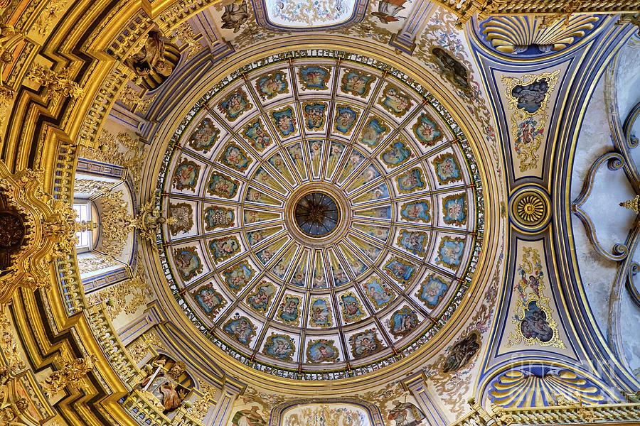 Roof Photograph - Roof. Chapel. Sacra Capilla del Salvador. Jaen. Spain. 1536 by Guido Montanes Castillo