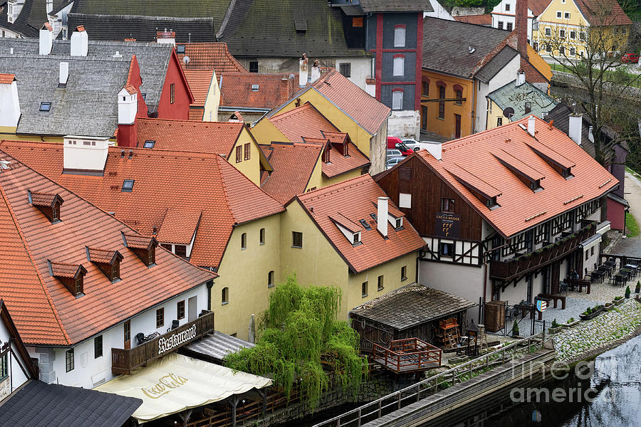 Roofs and Dormer Windows in Cesky Krumlov by Les Palenik