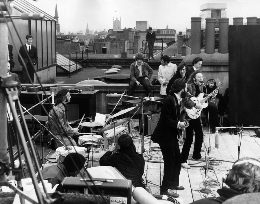 Rooftop Beatles Photograph by Express