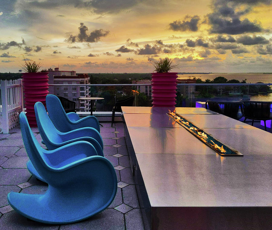 Rooftop Sunset by Portia Olaughlin