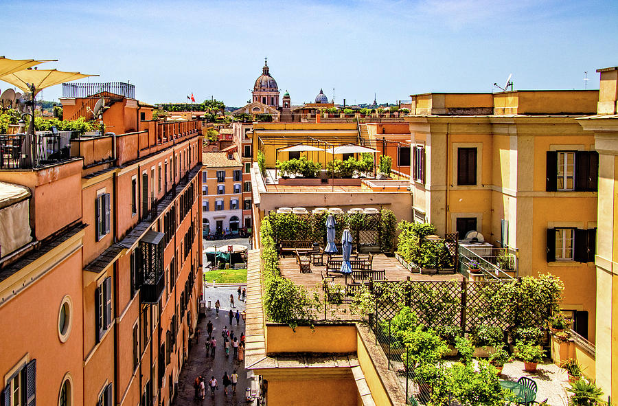 Rooftops in Rome by Carolyn Derstine