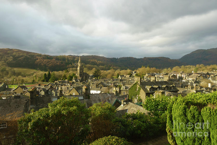 Ambleside Photograph - Rooftops Of Ambleside In Early Morning In The Lake District by Louise Heusinkveld