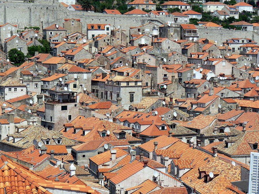 Rooftops Of Dubrovnik Old City Photograph by Wellsie82