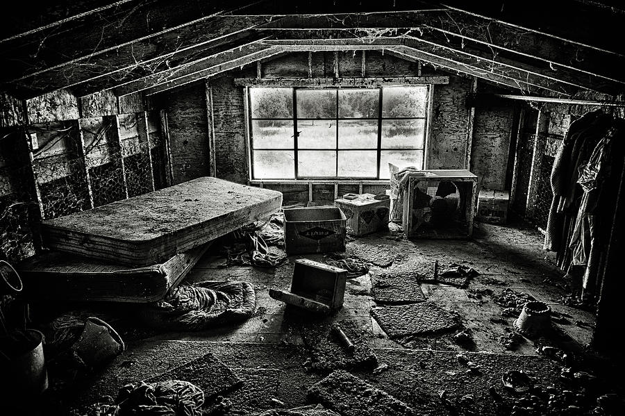 Room With A View Black And White Photograph