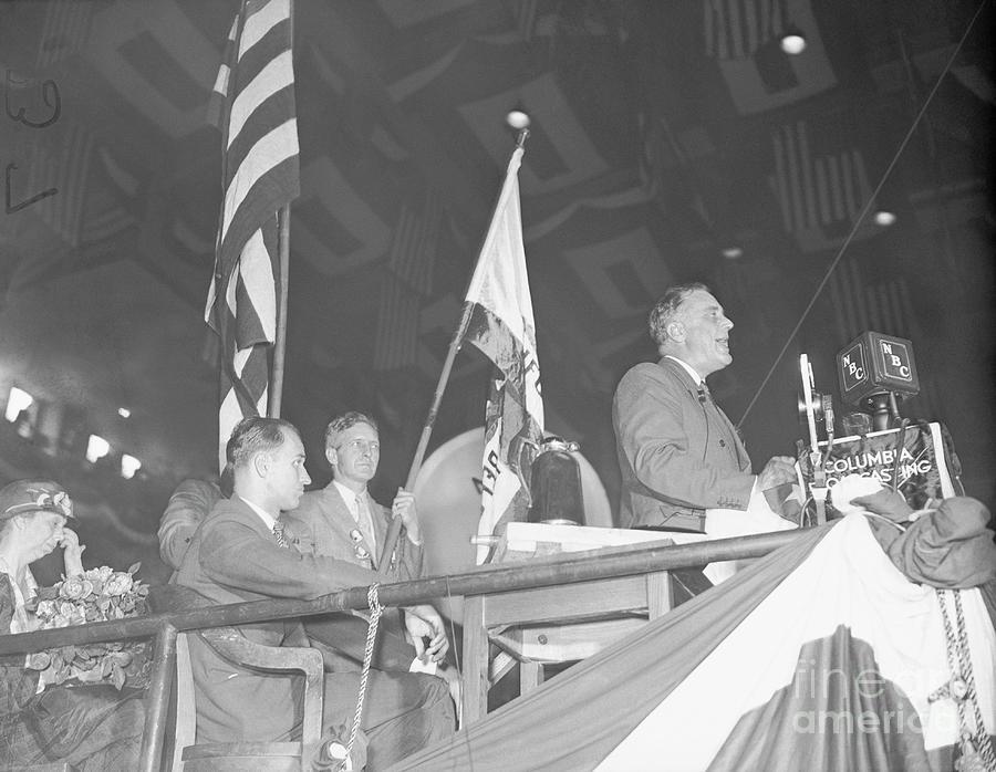 Roosevelt Speaking At Democratic Photograph by Bettmann