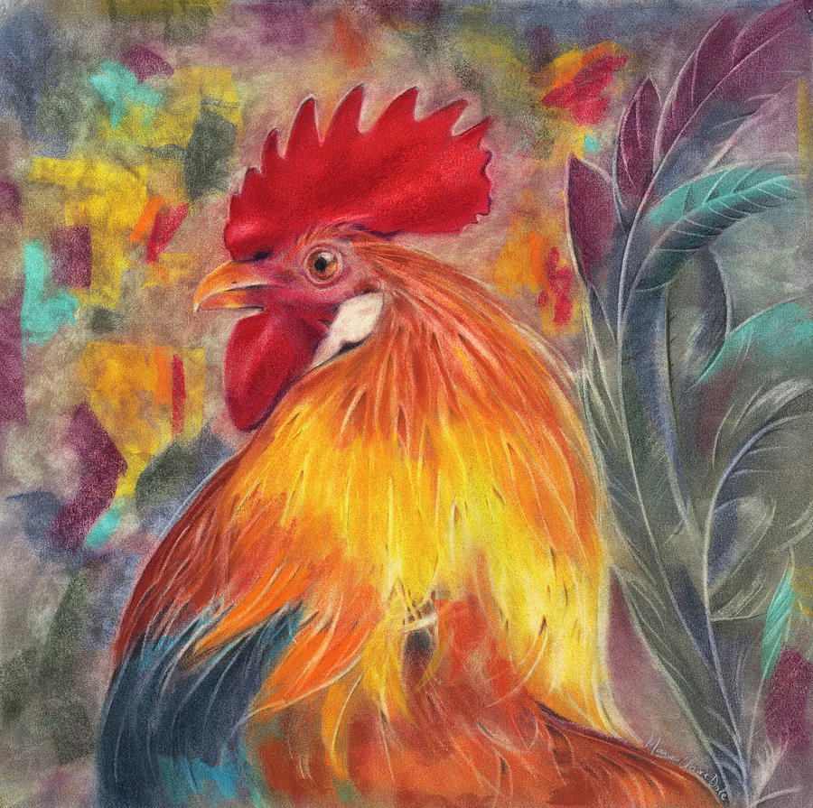Rooster Pastel - Rooster by Marie-Claire Dole