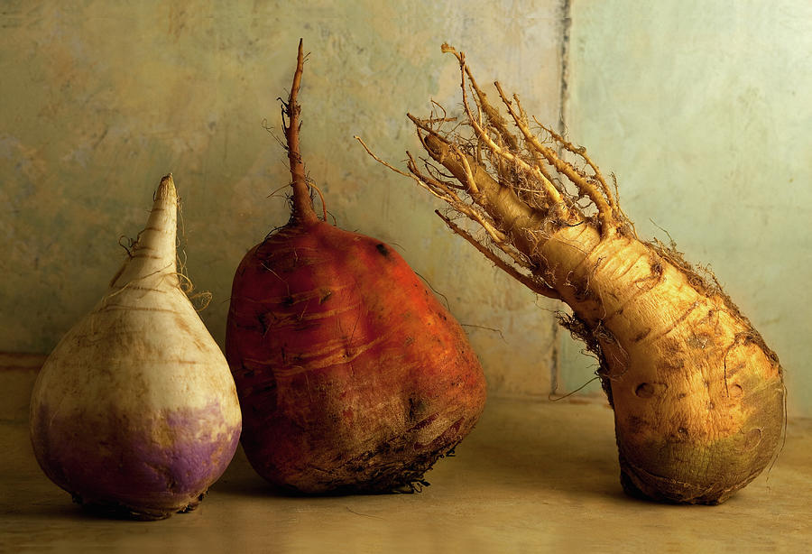 Root Vegetables On A Table Photograph by Marilyn Conway