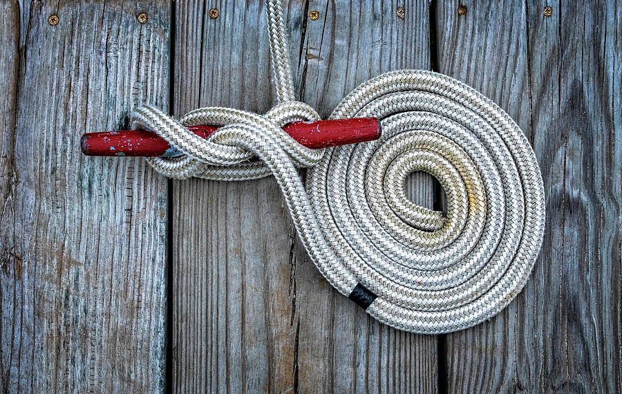 Rope And Cleat by Tom Singleton