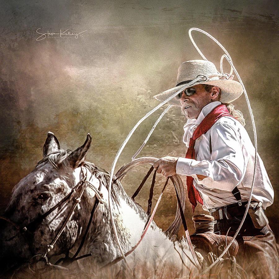 Roping Wrangler 2 by Steve Kelley