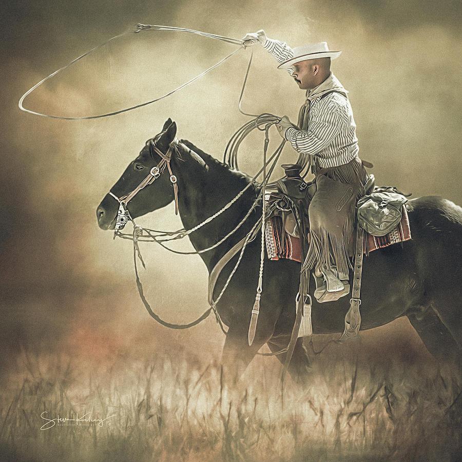 Roping Wrangler by Steve Kelley