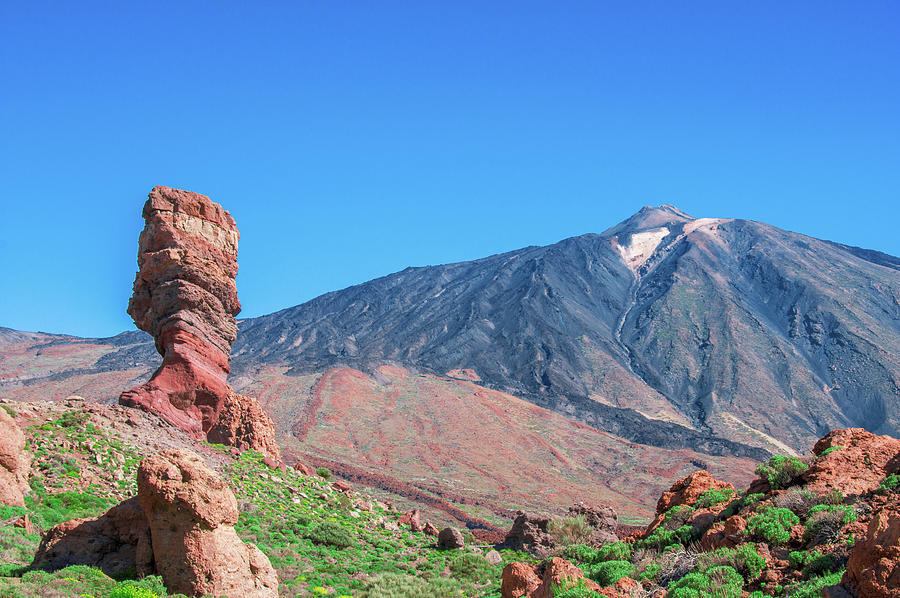 Mountains Photograph - Roque Cinchado In Front Of Mount Teide by Sun Travels