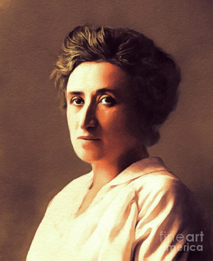 Rosa Luxemburg Philosopher And Activist Painting By Esoterica Art Agency