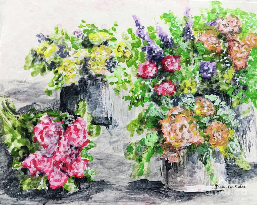 Roses Painting - Rose Bundles by Janis Lee Colon