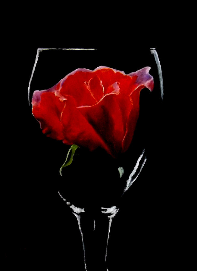 ROSE IN A GLASS by Barry BLAKE
