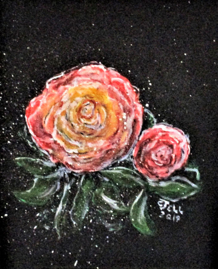 Flowers Painting - Rose In Light by Clyde J Kell