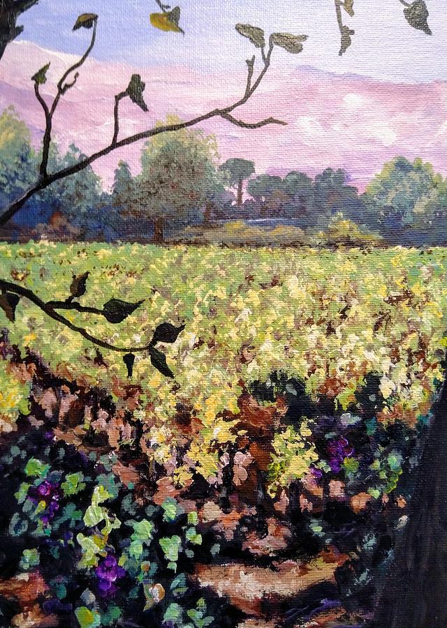 Vineyard Painting - Rose Mountain by Ray Khalife