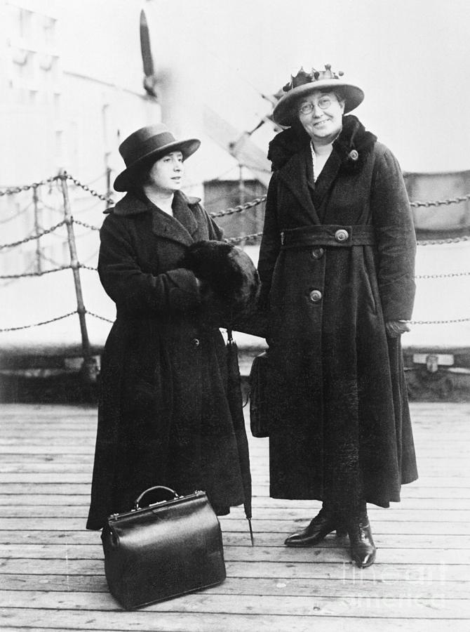 Rose Schneiderman With Mary Anderson Photograph by Bettmann
