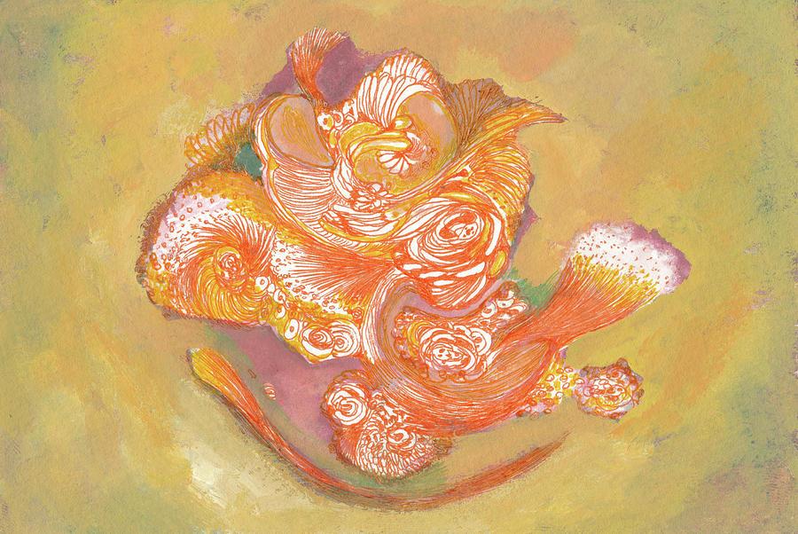 Roses Drawing - Rose - #ss19dw009 by Satomi Sugimoto