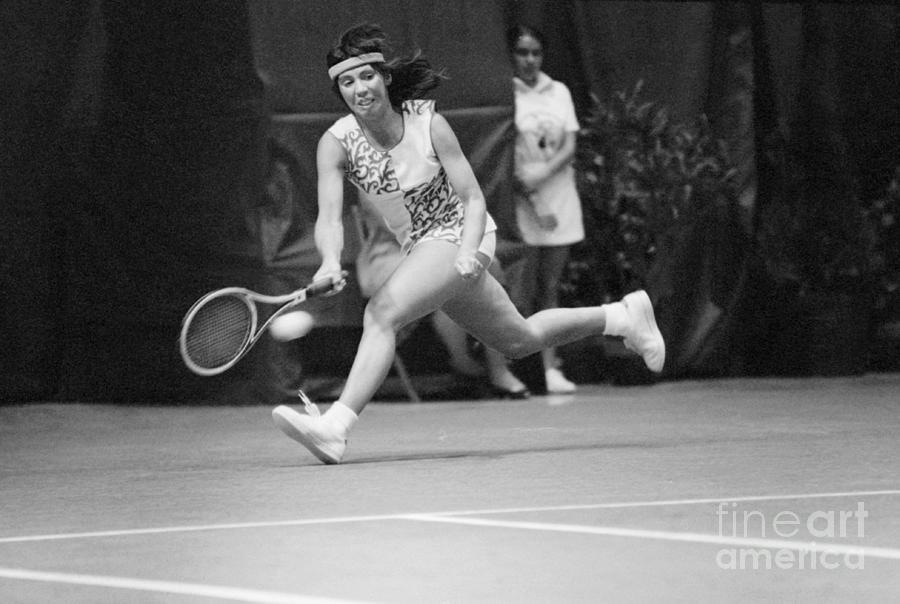 Rosemary Casals Running For Ball Photograph by Bettmann