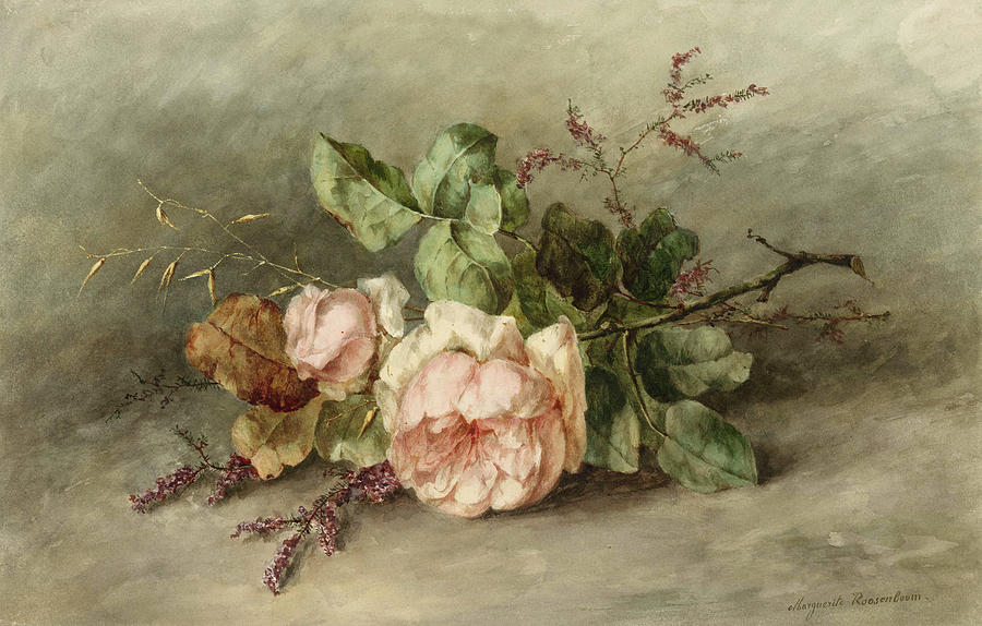 Roses Painting - Roses, 19th Century by Margaretha Roosenboom