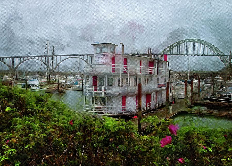 Roses And The Newport Belle by Thom Zehrfeld