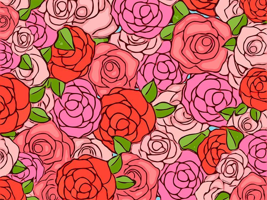 Roses Mixed Media