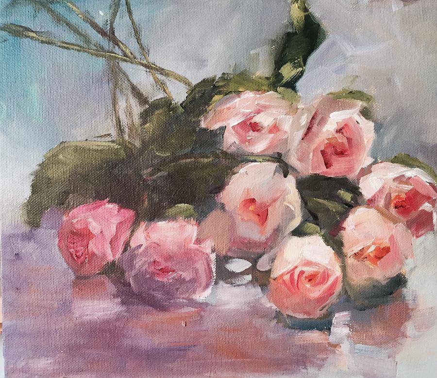 Roses Painting - Roses Galore by Karen Jordan