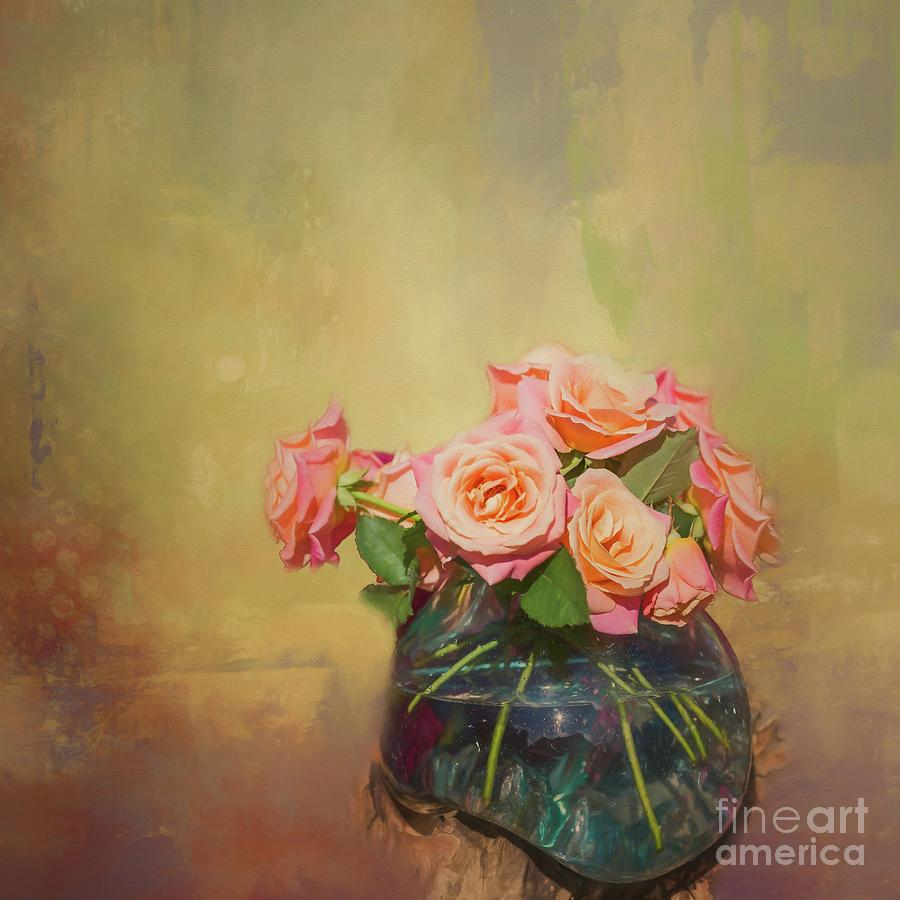 Roses in a Vase by Eva Lechner