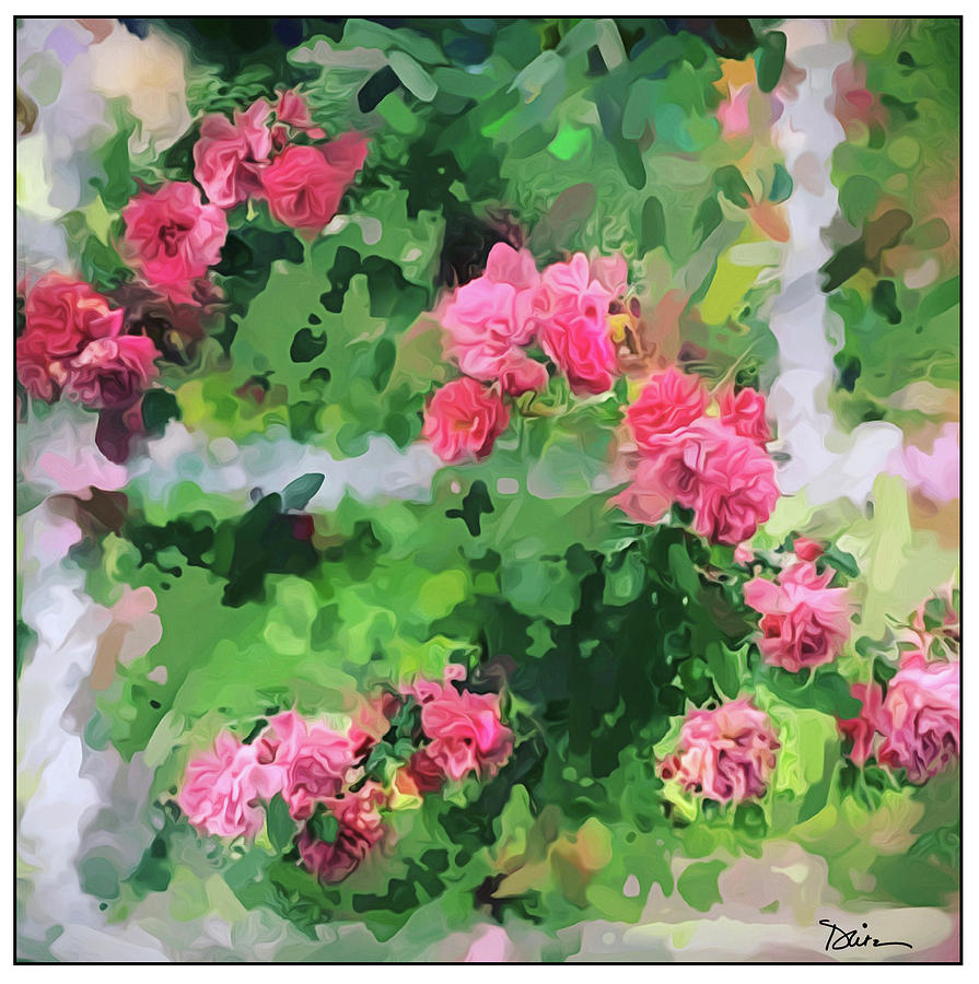 Roses on the Trellis by Peggy Dietz