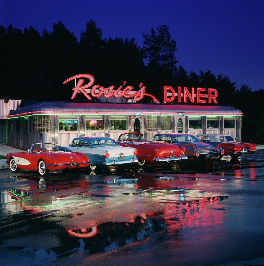 Rosies Diner Photograph by Car Culture