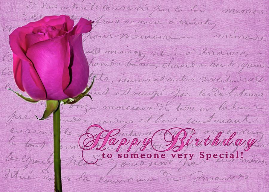 Rosy Birthday by Cathy Kovarik