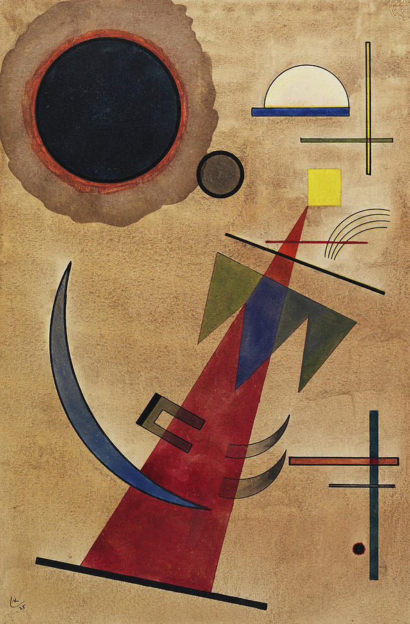 Red Painting - Rot In Spitzform, 1925 by Wassily Kandinsky