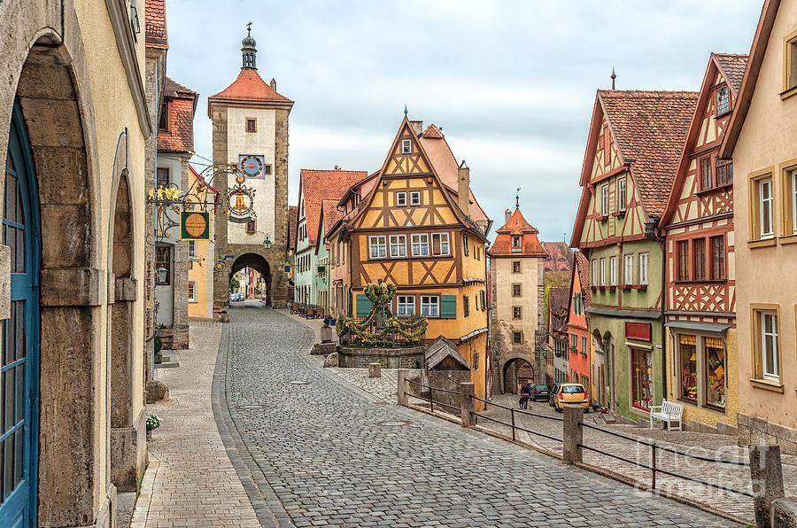 German Photograph - Rothenburg Ob Der Tauber, Famous by Boris Stroujko