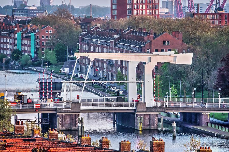 Rotterdam Mathenesserbridge by Frans Blok