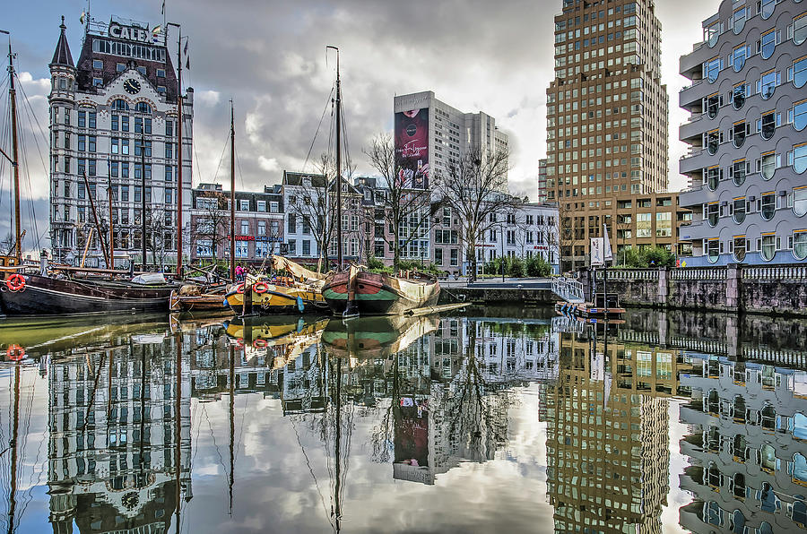 Rotterdam skyline and the Old Harbour by Frans Blok