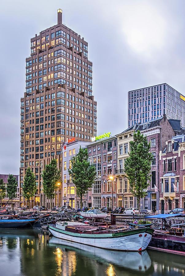 Rotterdam Wijnhaven at dusk by Frans Blok