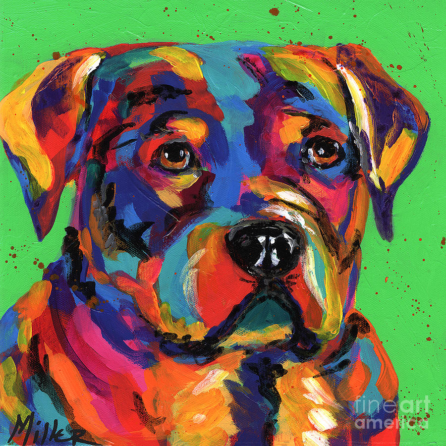 Tracy Miller Painting - Rottweiler by Tracy Miller