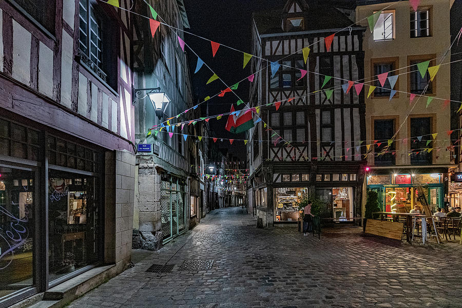 Rouen at Night by Randy Scherkenbach