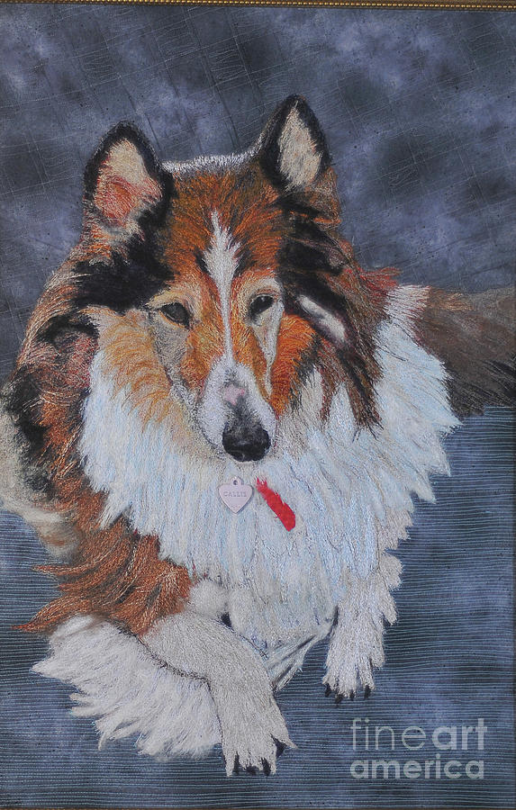 Rough Collie Tapestry - Textile - rough Collie by Dolores Fegan
